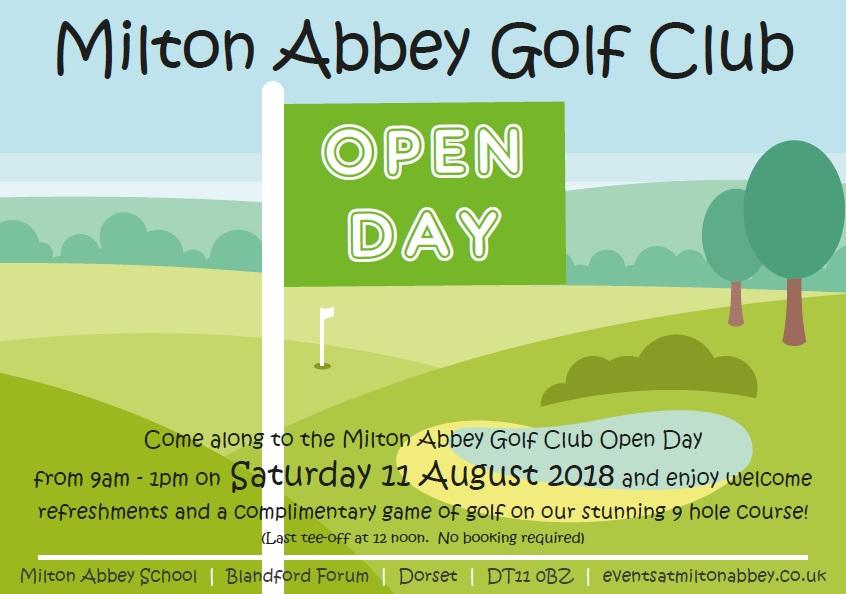 Golf Club Open Day 2018 flyer JPEG