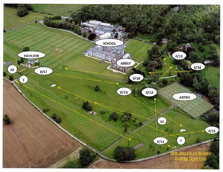 Milton Abbey Golf Course Map (c)