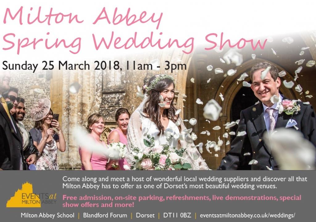 Milton Abbey Spring Wedding Show flyer JPEG